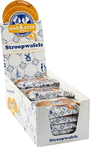 Max & Alex Duo Packed Stroopwafel Display Box Inclusief 15 Individueel Verpakte Stroopwafels Pakjes van 80g elk – Elk…