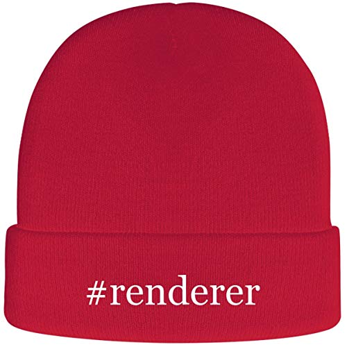 #Renderer - Soft Hashtag Adult Beanie Cap, Red