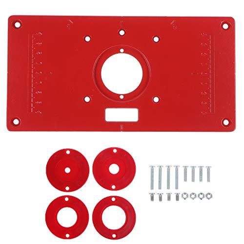 Wetrys Router Table Insert Plate Aluminum Red Board Trimming Machine Flip...