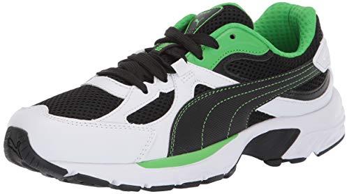PUMA Unisex-Erwachsene AXIS Sneaker, White Black-Classic Grün, 38 EU