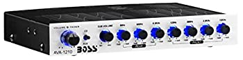 BOSS Audio Systems AVA1210 7 Band Pre-Amp Car Equalizer with Gold-Plated Front Rear and Subwoofer Outputs