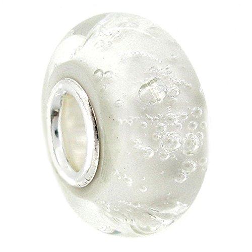 Queenberry Charm-Perle aus Glas und Sterlingsilber für Pandora/Chamilia/Troll/Biagi/europäische Charm-Armbänder