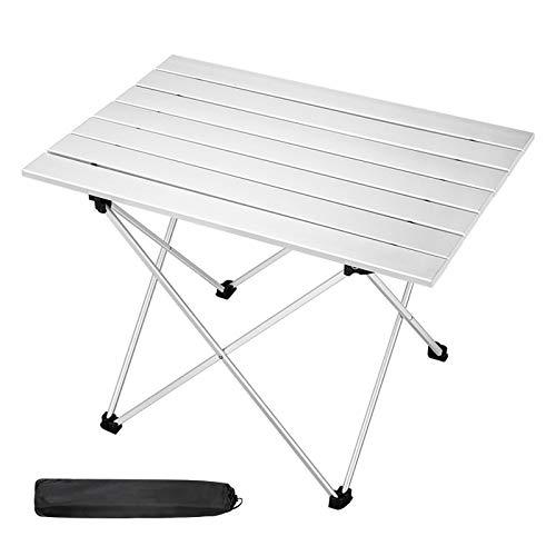 Mesa de Camping de Aluminio Portátil Ligera Mesa Plegable Mesas Compactas con Bolsa de Transporte para Acampar al Aire Libre Senderismo Picnic Mochilero