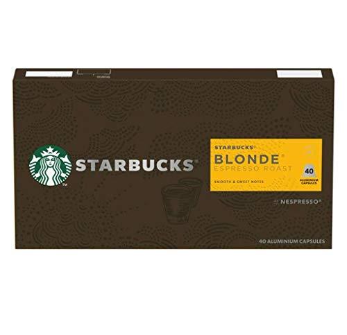 Starbucks Blonde Espresso Roast by Nespresso Blonde Roast Coffee Pods (Pack Of 1, Total 40 Capsules)