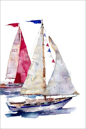 Posterlounge Acrylic print 60 x 90 cm: Sailing by Harrison Ripley/Advocate Art