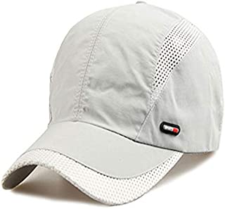 GoQuik Summer Middle-Aged and Elderly Hat Sunscreen Baseball Cap Male Fishing Hat Thin Section Breathable Quick-Drying Sunshade Cap (Color : E)