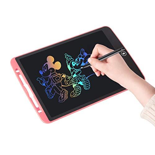 Upgrow LCD Writing Tablet, 12 Zoll LCD-Schreibtafel, Grafiktablett Schreibplatte Digital Schreibtafel Papierlos Maltafel für Kinder Schule Malen Notizen, mit Schutztasche (12 Zoll, Rosa+Bunt)