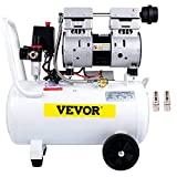VEVOR Compressori d'Aria da 1.1HP/850W, Compressore Motore Senza Olio con Serbatoio 30L, Velocità di Rotazione 1440 RPM Compressore Silenzioso per il Gonfiaggio dei Pneumatici, la Pulizia dei Veicoli