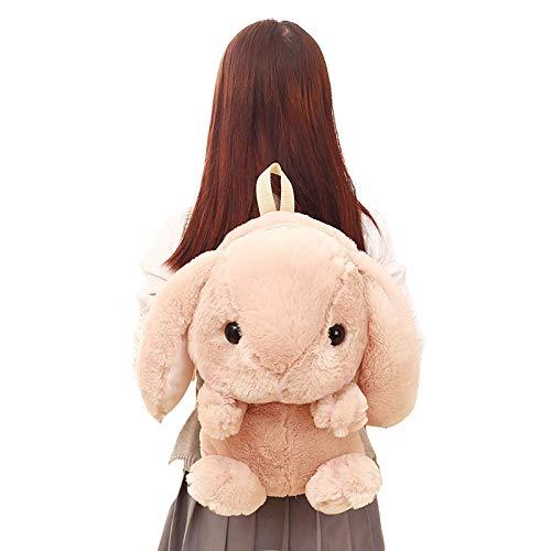 JKLI Plüsch Hase Lange Ohren Hase Tasche Plüsch Puppe Plüschtiere Kinder Kinder Rucksack Mädchen Kinder Wangwu