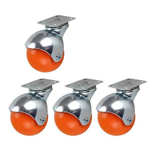 Sywlwxkq Ruedas de Nailon esféricas de Color de 2 Pulgadas Ruedas con Soporte galvanizado Ruedas giratorias para sofá Ruedas de Repuesto Ruedas de Repuesto Peso 120 kg para Silla de Oficina Gabinete