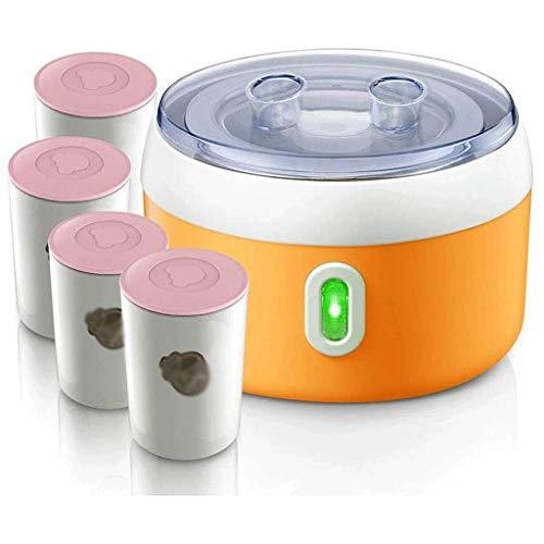 XJJZS Caseras Herramientas automáticas Yogur Máquina de cerámica 4 Copas Gruesa de Acero Inoxidable Liner eléctricos de fabricación de la hornada