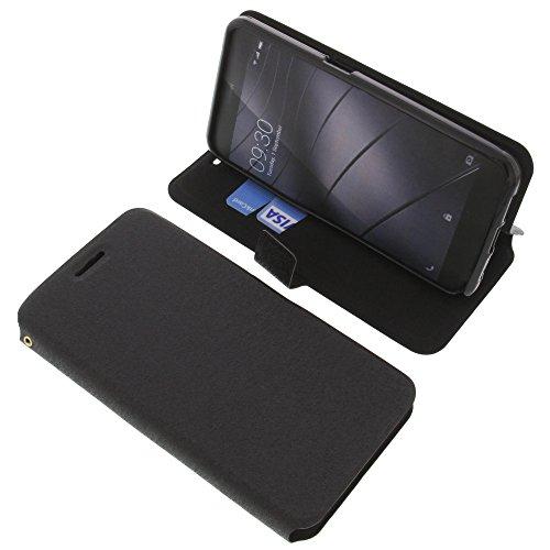 foto-kontor Tasche für Gigaset Me Pro Book Style schwarz Schutz Hülle Buch