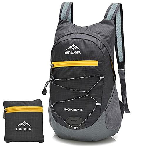 LFKJUMY Ultraleichter Faltbarer Rucksack, Wasserdicht Tagesrucksack Outdoor FüR Reisen, Wandern, Camping Und Klettern, Unisex Tagesrucksack-20L