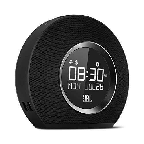 JBL Horizon Hotel Bluetooth Alarm Clock, AM Radio with USB Charging (No FM Radio) and LED Ambient Light