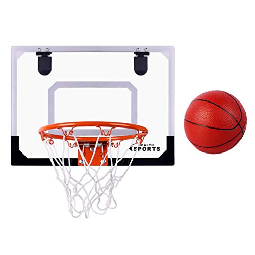 Kisangel Juego de Miniaro de Baloncesto Y Bolas de Interior Juego de Aro de Tablero para Puerta Y Pared de Juguete de Baloncesto para Niños Y Adultos