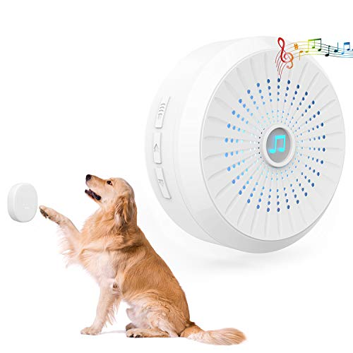 CATOOP Wireless Dog Doorbell, Dog Door Bell with Wireless Touch Dog Bells for Potty Training, IP55 Waterproof Dog Training Door Bells Included Receiver and Transmitter