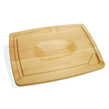 J.K. Adams 20-Inch-by-14-Inch Maple Wood Double-Sided Pour Spout Carving Board
