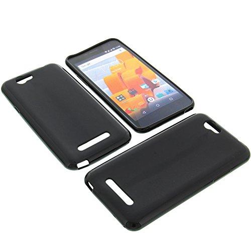 foto-kontor Tasche für Wileyfox Spark Spark Plus Gummi TPU Schutz Handytasche schwarz