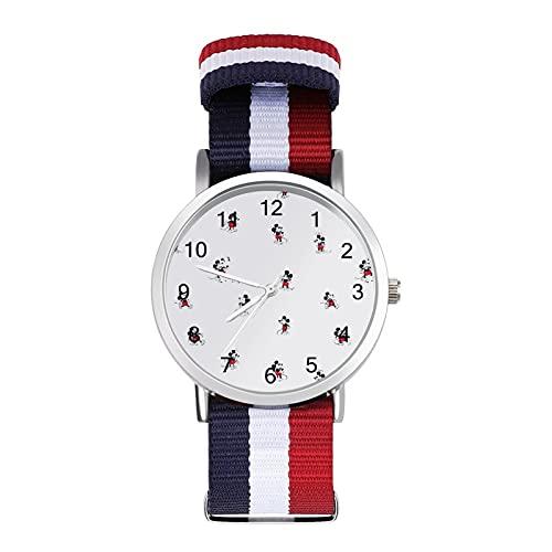 Mickey Mouse Minnie reloj de ocio para adultos con escamas trenzadas ajustable elegante espejo de cristal 1.6 pulgadas hombres mujeres pulsera temperamento