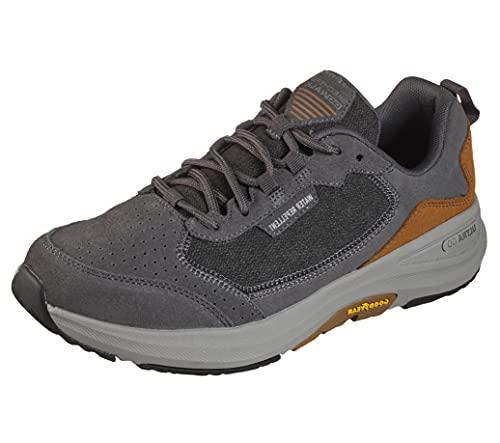 Skechers Men's Gowalk Outdoors Minsi-Water Repellent Anti-Slip Performance Walking Shoe Sneaker, Charcoal/Brown, 11