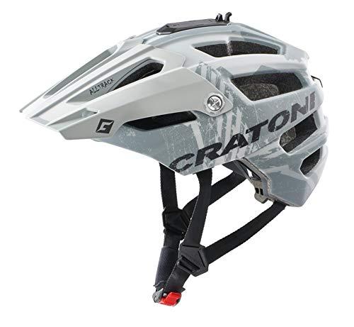 Cratoni AllTrack Mountainbike Helm Fahrradhelm mit Kamerahalter (Grey Rubber, M/L (58-61 cm))