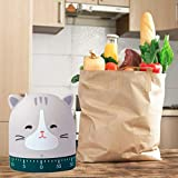 Kitchen Timer Cat&Fox&Pig Time Timer Manual Craft Mechanical Wind UpCooking Timer for Cooking,Study,Entertainment,Kids Classrooms, Meetings (CAT)