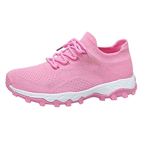 Review Of HYSGM Women Outdoor Knitted Sneakers for Girls Casual Runing Sport Shoes Breathable Sneake...