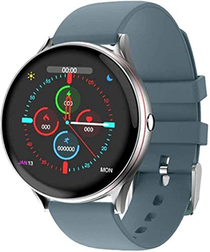 DHTOMC Reloj Inteligente de las Mujeres de los Hombres IP68 Impermeable Deportes Fitness Pulsera Multifuncional - Azul