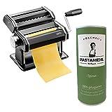 Gefu - Pastamaschine Nudelmaschine Pasta PERFETTA schwarz + Pastamehl (Pastamehl Spinat)