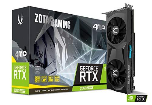 ZOTAC GAMING GeForce RTX 2060 Super AMP Grafikkarte (NVIDIA RTX 2060 Super, 8GB GDDR6, 256 Bit, Boost-Takt 1680Mhz, 14Gbps)