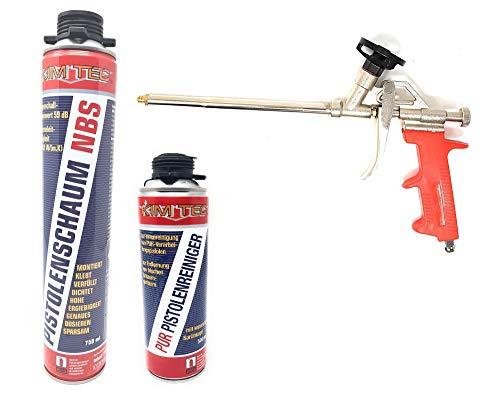 Toolzy 101640 3er Set 1k PUR- Pistolenschaum NBS Made in Germany Bauschaum Pistolenreiniger