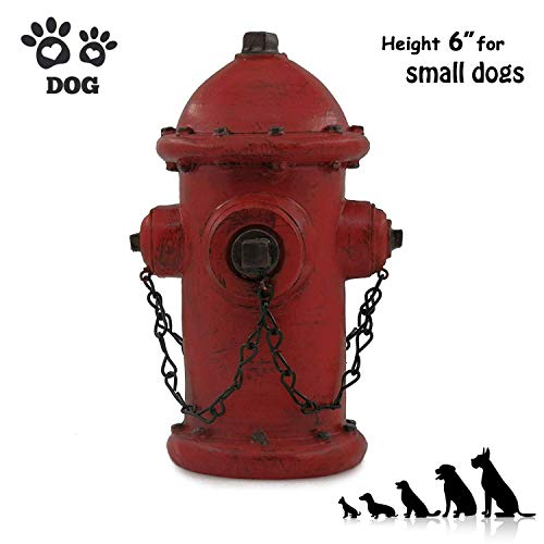 "ornerx Resin Fire Hydrant Statue Decor 9"" Tall - Small"