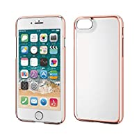 エレコム iPhone SE 第2世代 2020 / 8 / 7 対応 ケース ハード 薄軽+頑丈 [UVコート加工で傷がつきにくい] サイドメッキ 細部までフィットする極み設計 ピンク PM-A19APVKMPN