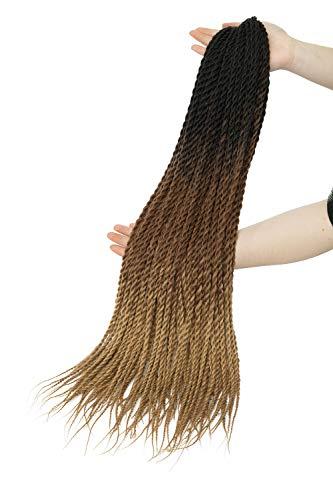 Crochet Braids Senegalese Twist Hair Extensions 3 Bündel Synthetik Flechten Haar Small Havana Mambo 2 X Twist Braids Hair 30 Ständer/Bunlde 61 cm -