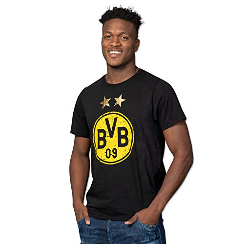 Borussia Dortmund, BVB-T-Shirt mit Logo, Schwarz, L