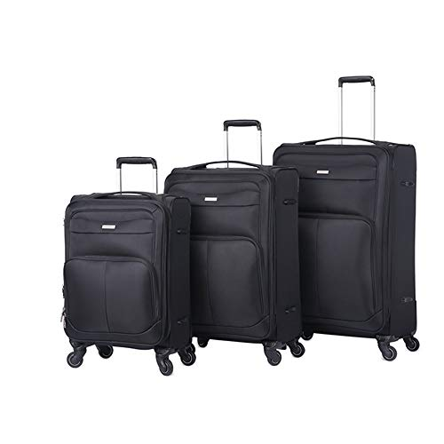 Discover Bargain Trolley Suitcase Luggage Set With TSA Lock Oxford Cloth Soft Carry-on Extension Col...