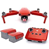 Wrapgrade Skin Set of Main Unit + Remote Controller + 2 Batteries Compatible with DJI Mavic Air 2 (Super Red)