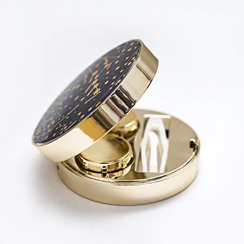 PPuujia Funda de lentes de contacto con estrellas con diseño de lentes de contacto de lujo para lentes de contacto como estuche de gafas de regalo