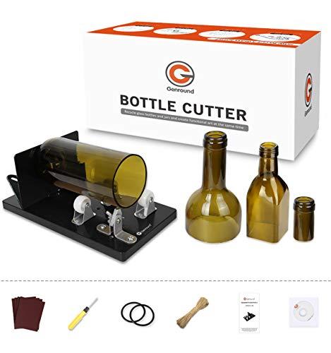 Flaschenschneider, Genround 2021 Aktualisierung 2.1 Glasflaschenschneider, Runde/Quadratische Flasche vom Hals bis zum Body Bottle Cutter, Weinflasche Glasflaschen Schneider Glasschneider für flaschen