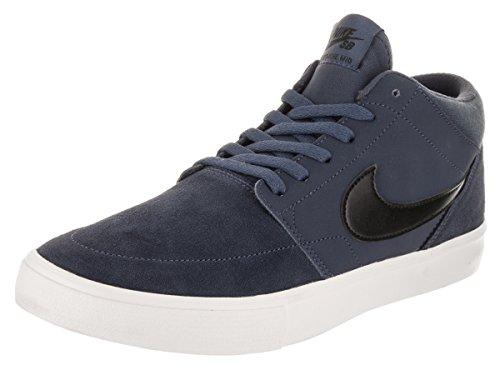 Nike SB Portmore II Solar Mid, Zapatillas de Skateboard Hombre, Azul (Thunder Blue Black Summit Whit 400), 38.5 EU