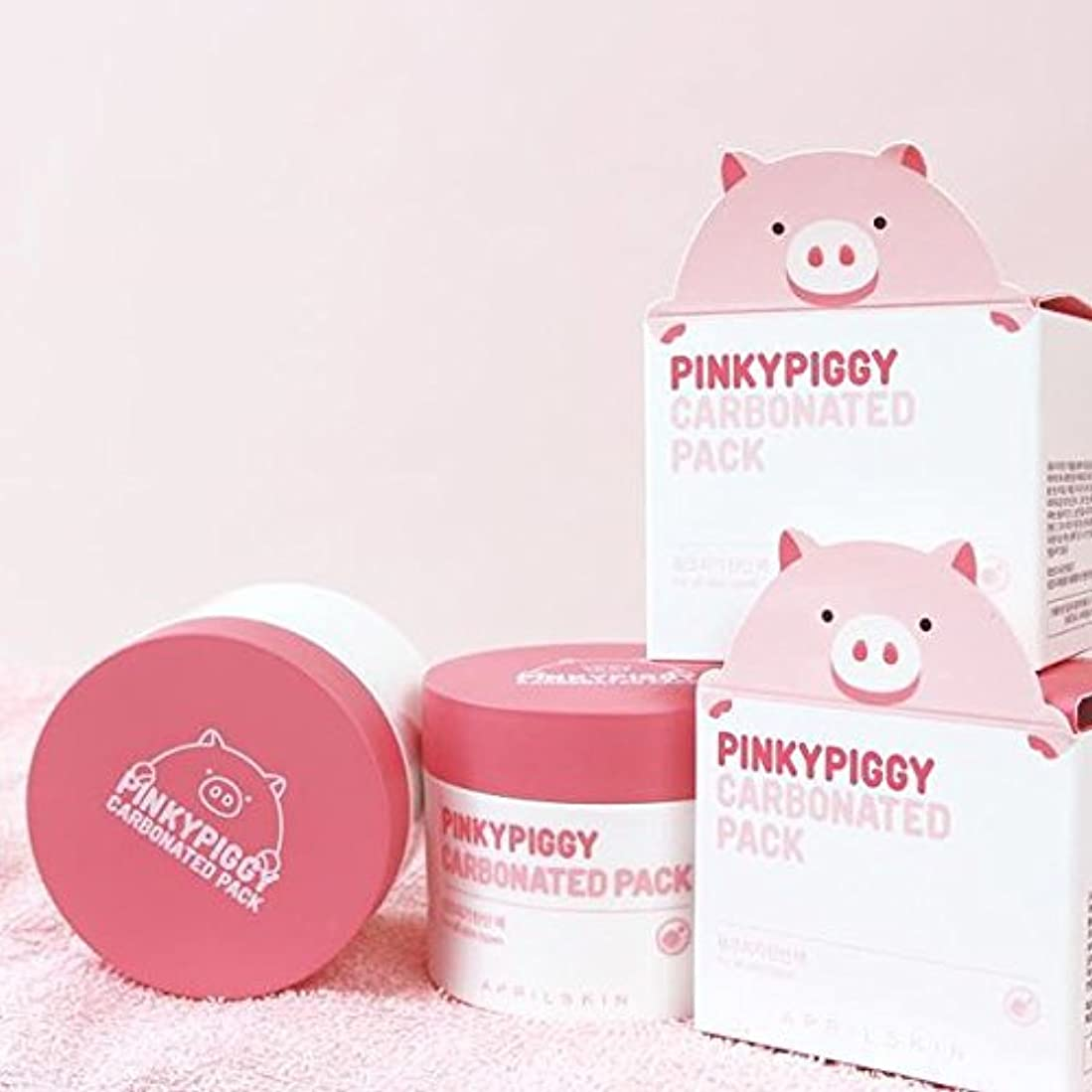 生きる調停者面積April Skin Pinky Piggy Carbonated Pack 100g Direct form Korea/w Gift Sample [並行輸入品]