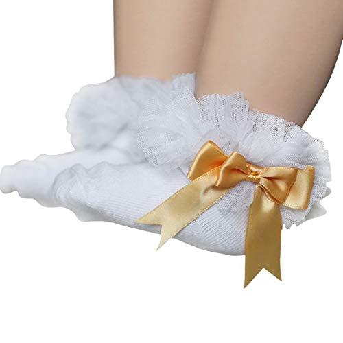 CSCZL Dentelle Floral Bébé Chaussettes 0-2 Ans Bambins Nourrissons Coton Cheville Arc Chaussette Bébé Filles Princesse Mignon Chaussettes Nouvelle Mode