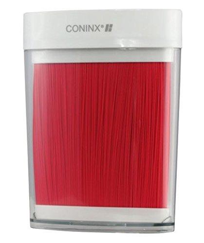Blocco coltelli ovale Coninx Maxa rosso - ceppo portacoltelli - 18 x 8.7 x 23.3cm - 2 anni di garanzia