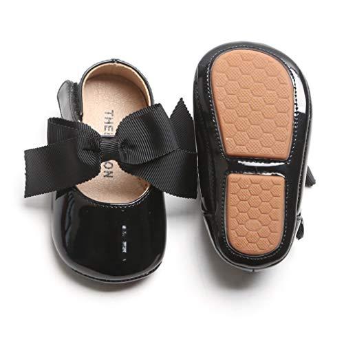 Josmo Baby Girls Patent Dressy Shoe Bow (Infant, Toddler), Size 3 Infant, Black Bow