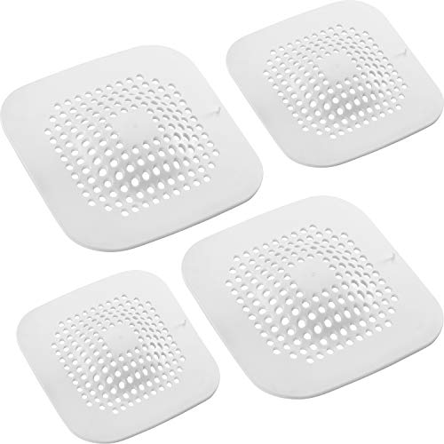 4 Pieces Floor Drain Covers Silicone Drain Strainers Hair Catcher Sink Strainers Bathroom Drain Filters with Sucker for Home Bathroom Supplies
