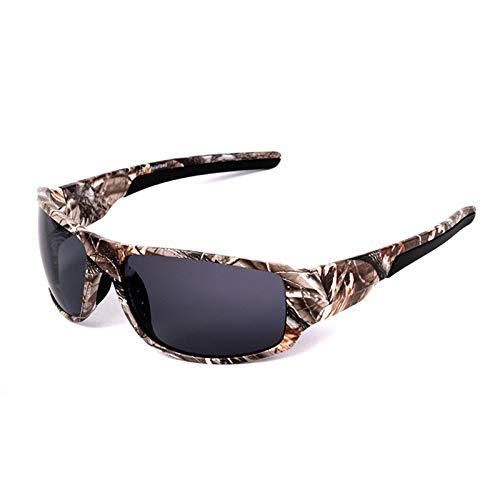 HDSJJD Gafas De Sol Polarizadas De Camuflaje De Los Hombres-UV400 UV Protección Usada para Correr, Ciclismo, Pesca, Conducción, Golf,B