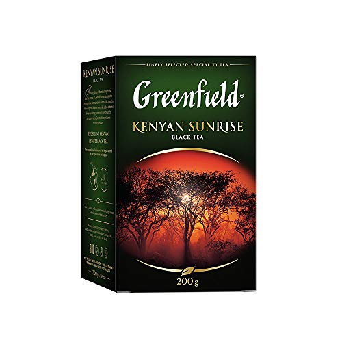 GREENFIELD KENYAN SUNRISE | Single Origin Schwarztee Loose Leaf | Schwarzer Loser Tee | Kenia | Koscher | Black Tea | Kenya | 200g