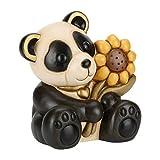 THUN® - Panda Grande con Girasole - Animali da Soprammobile da Collezione - Ceramica - I ...
