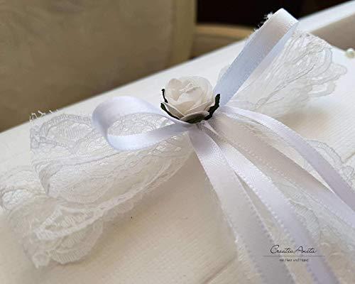 Briefbox – Geschenktruhe – Edle Spitze mit Röschen Hochzeit Geschenkschachtel Erinnerungsbox - 2