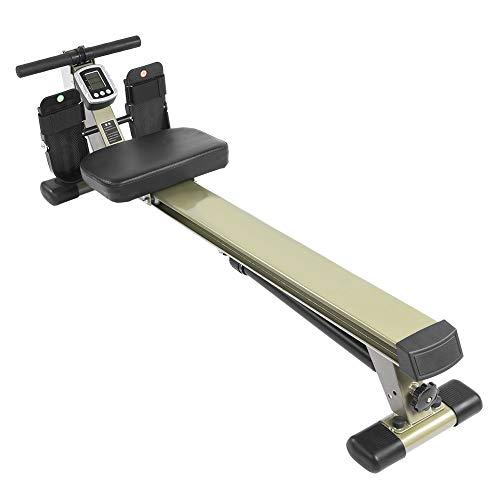 Ejoyous Máquina de remo para entrenamiento aeróbico de doble pista, para gimnasio en casa, fitness, entrenamiento en interiores